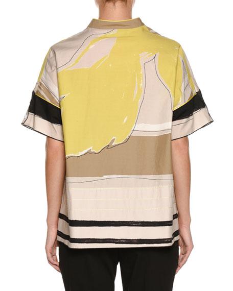 Graphic-Print Kimono Shirt