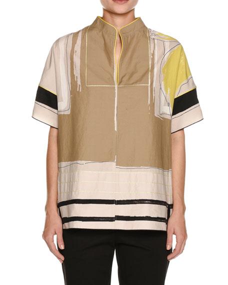 Piazza Sempione Graphic-Print Kimono Shirt and Matching Items