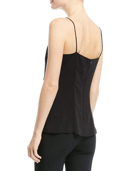 Sadrina Wrap-Over Tank with Abstract Buttons