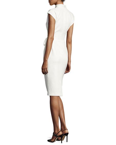 Bartolini Lace-Up Side Sheath Dress