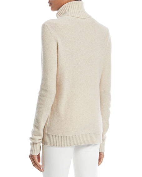 Long-Sleeve Turtleneck Cashmere Sweater