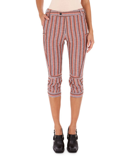 Striped Pique Motocross Pants