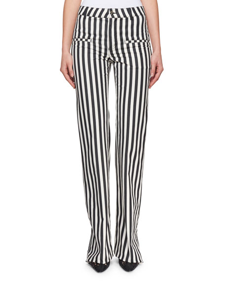 Jacques Low-Rise Striped Straight-Leg Pants