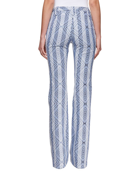 Serge Diamond-Jacquard High-Waist Pants