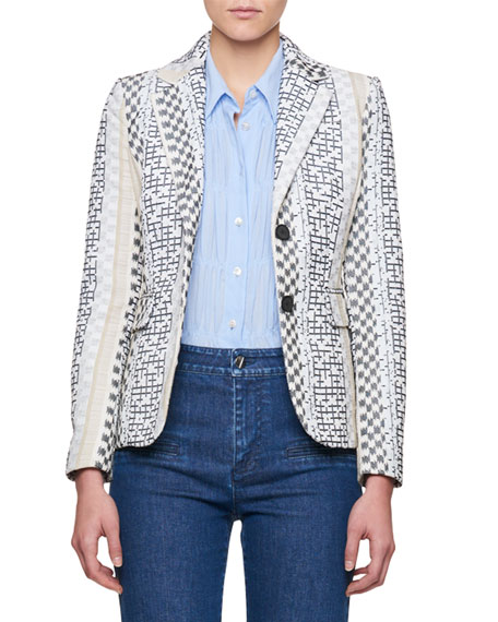 Altuzarra Fenice Striped Jacquard Blazer and Matching Items