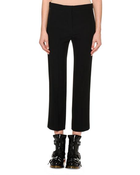 Cigarette Crepe Trousers w/ Taffeta Tux Stripe