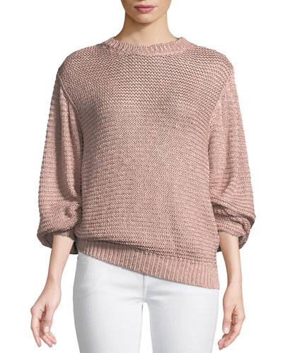 Oversized Shaker Knit Sweater