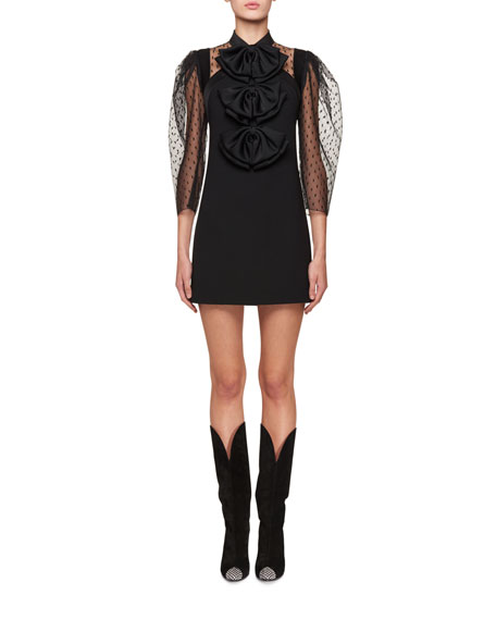 Clearance Best Seller structured long-sleeve mini dress Givenchy Shop For Cheap Online For Sale 2018 UBVTp