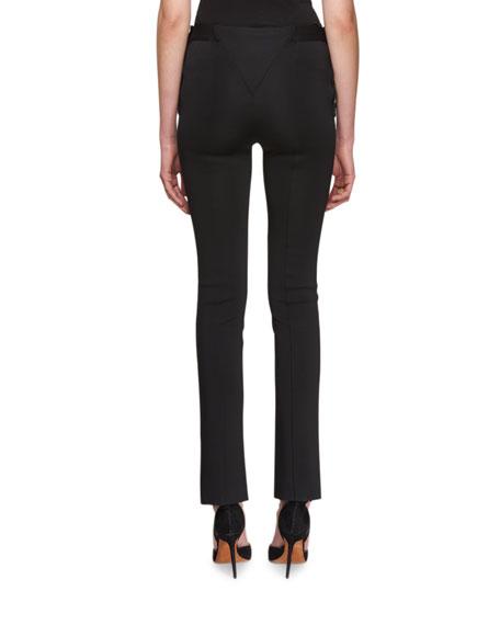 Side-Button Boot-Cut Pants