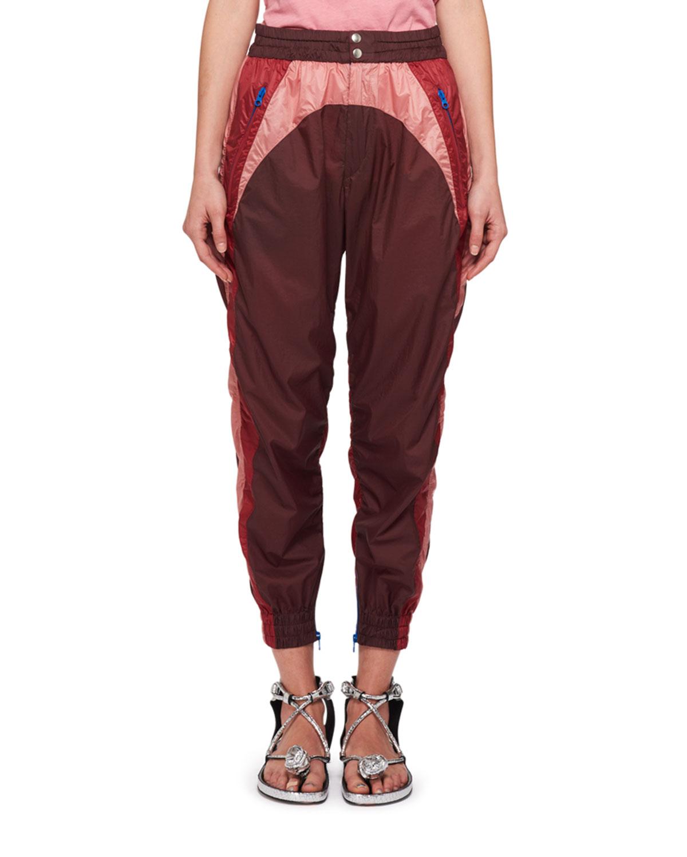 190d9425ce81 Isabel Marant Raruso Colorblock Nylon Parachute Jogger Pants ...