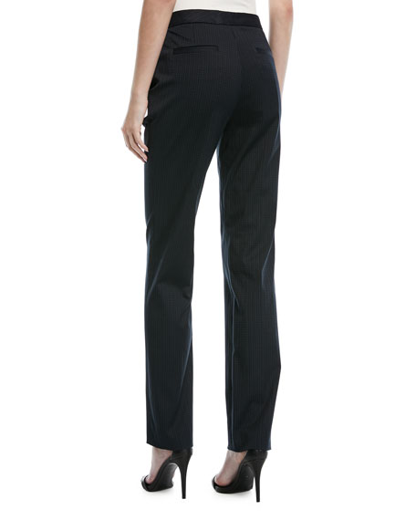 Turanu Broken-Stripe Straight-Leg Pants