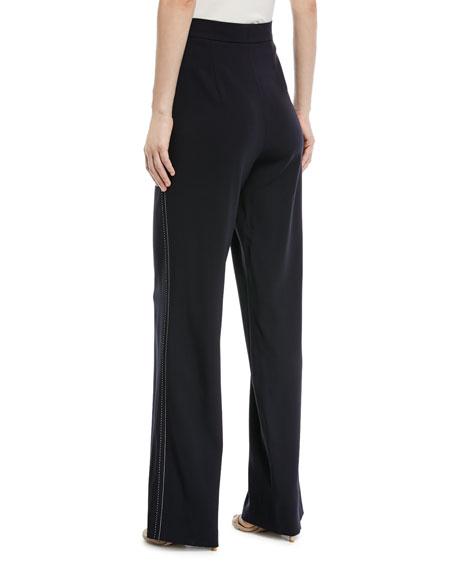 Tiketanatus Wide-Leg Wool Pants with Side Zip