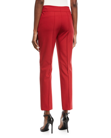 Side-Zip Techno Ankle Pants