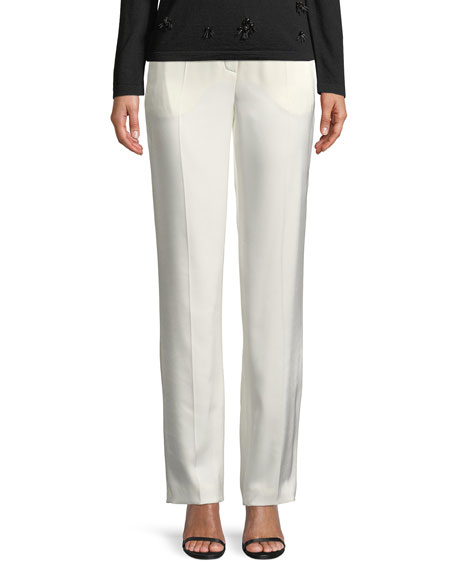 Eve Straight-Leg Satin Pants