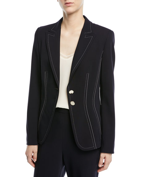 Escada Two-Button Stretch-Wool Blazer and Matching Items