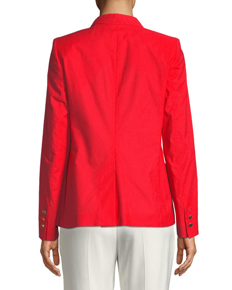 Two-Button Stretch-Cotton Jacket