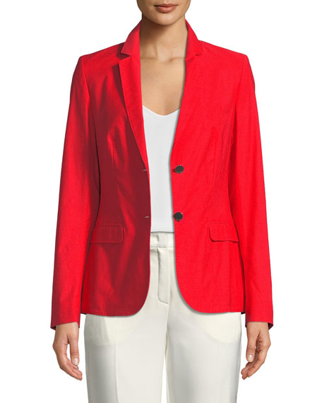 Escada Two-Button Stretch-Cotton Jacket and Matching Items &