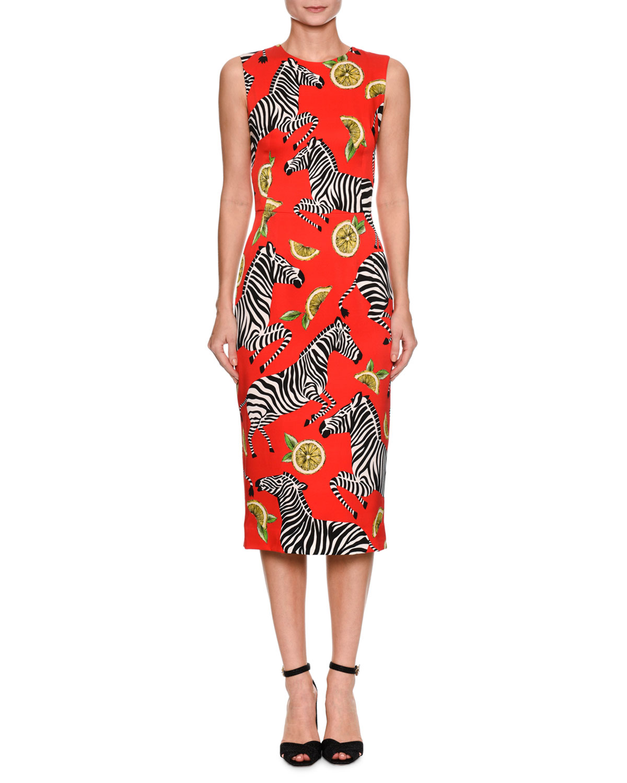 Fashion week Gabana Dolce zebra dress collection for girls