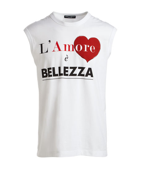 L'Amore  e Bellezza Cap-Sleeve Graphic-Print T-Shirt
