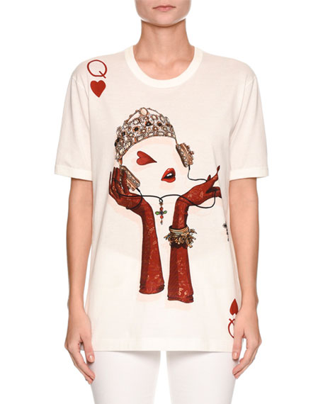 Short-Sleeve Queen of Hearts T-Shirt