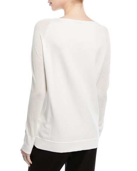 Crewneck Long-Sleeve Pullover Sweater