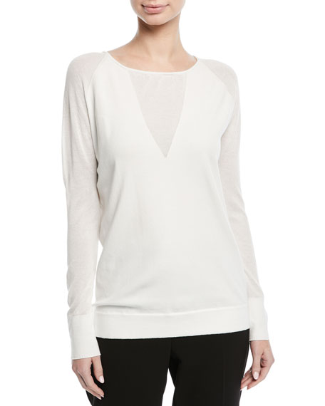 Escada Crewneck Long-Sleeve Pullover Sweater