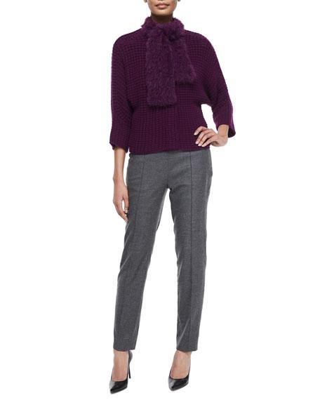 Hepburn Mid-Rise Slim-Leg Pants, Flannel