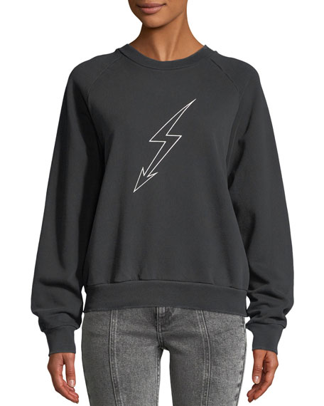 Lightning-Bolt World Tour Crewneck Jersey Sweatshirt