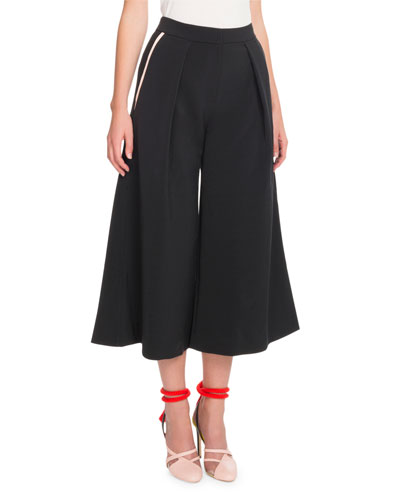 Culotte Ankle-Length Crepe Pants