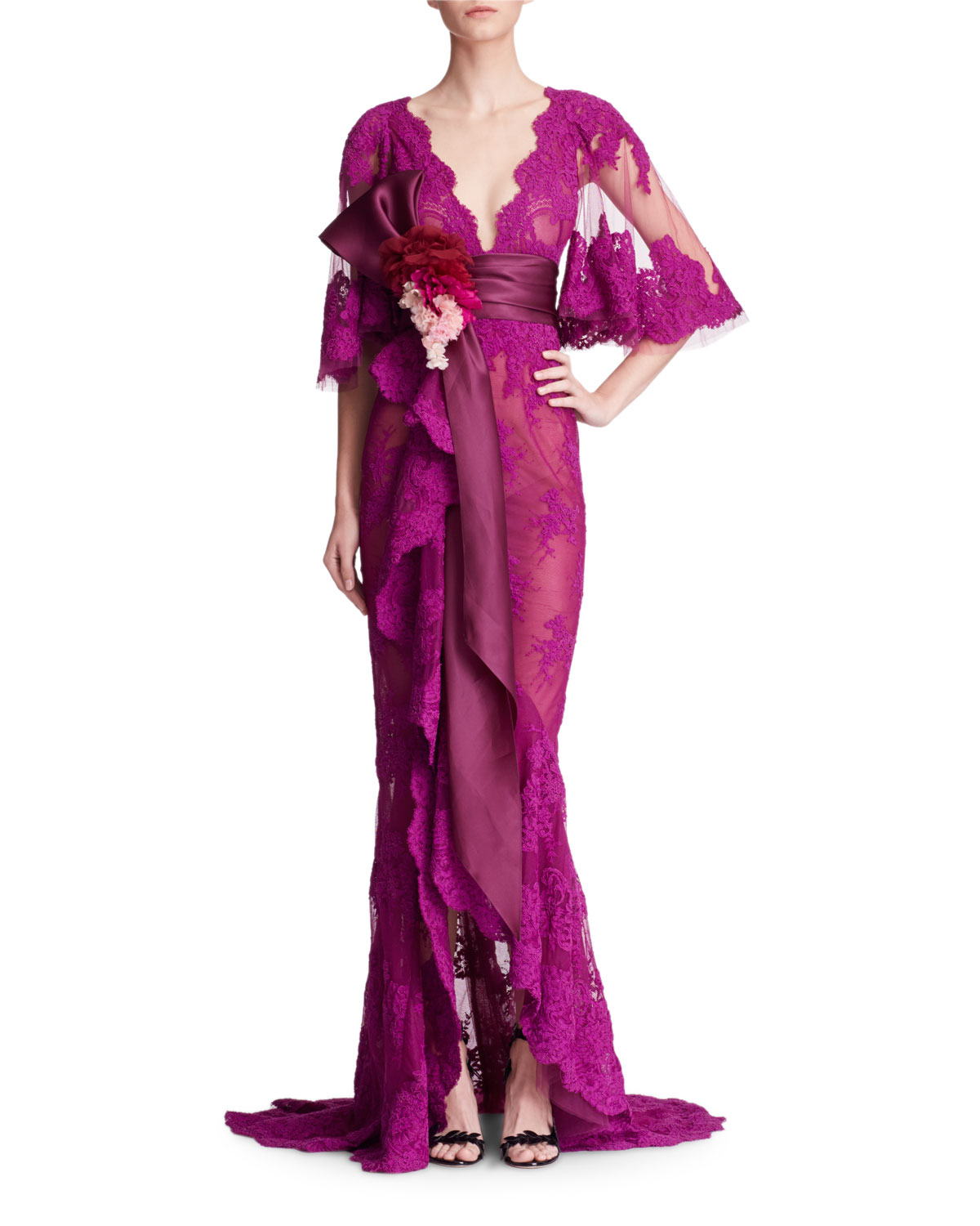 Rayon Evening Gown | Neiman Marcus