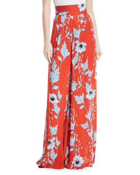 Johanna Ortiz Camino Real Persa Garden-Print Silk Robe-Style