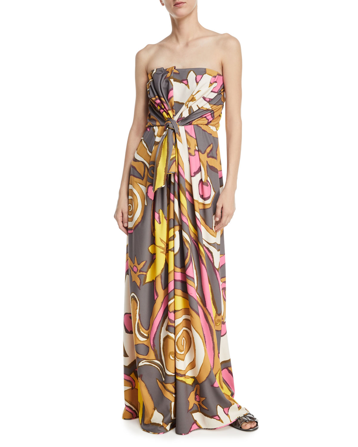Marc Jacobs Strapless Twist-Front Jersey Gown | Neiman Marcus