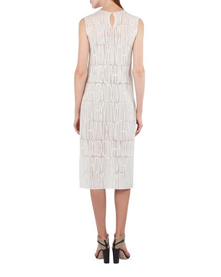 Sleeveless Jacquard Knit Midi Dress