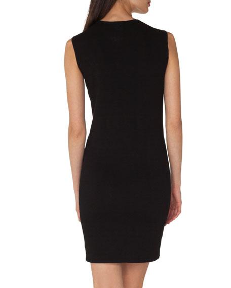 Sleeveless Crewneck Knit Dress