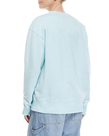 Embellished-Logo Crewneck Sweatshirt