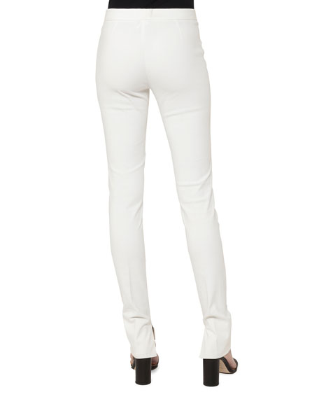 Fria Skinny Side-Zip Techno-Stretch Pants
