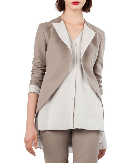Akris Open-Front Cotton-Silk Tuxedo Jacket and Matching Items