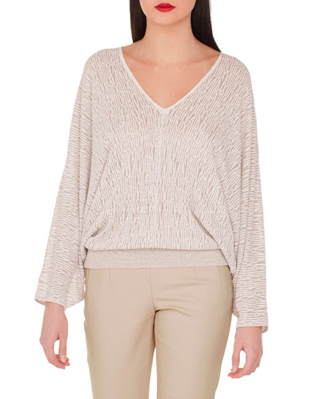 Akris V-Neck Kimono-Sleeve Knit Pullover and Matching Items
