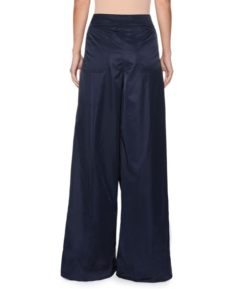 High-Waist Wide-Leg Woven Pants