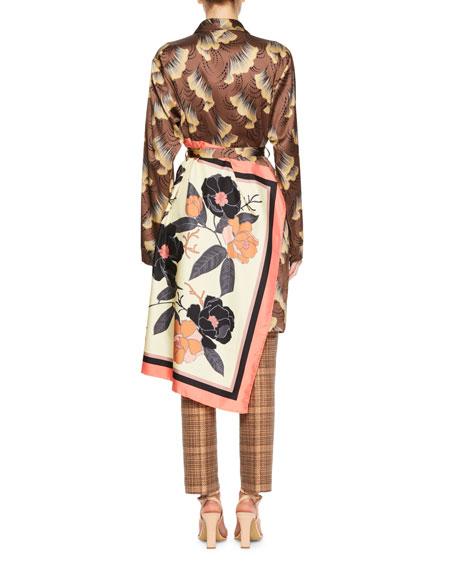 Racun Gingko Leaf Wrap Coat