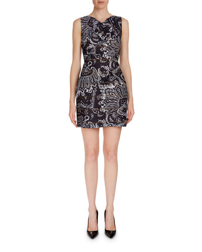 Foxley Sleeveless Paisley-Print Dress