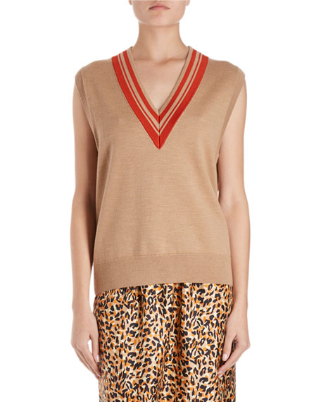 Dries Van Noten Jenifa Knit Sweater Vest w/