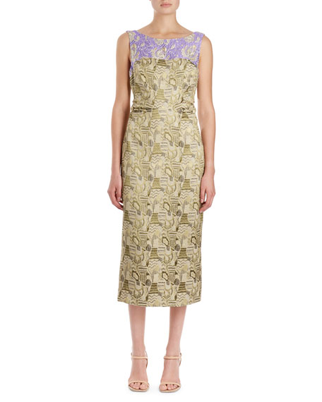 Delicia Brocade Sheath Dress