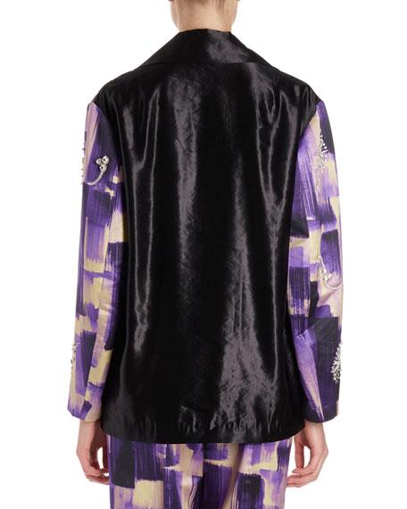 Verner Brush Stroke Jacket w/ Jewel Embellishments