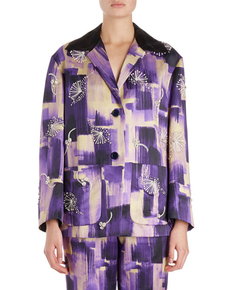 Dries Van Noten Verner Brush Stroke Jacket w/