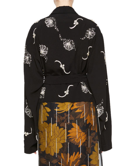 Ritus Embroidered Wrap Top