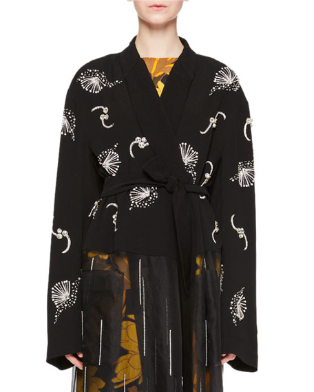 Dries Van Noten Ritus Embroidered Wrap Top and