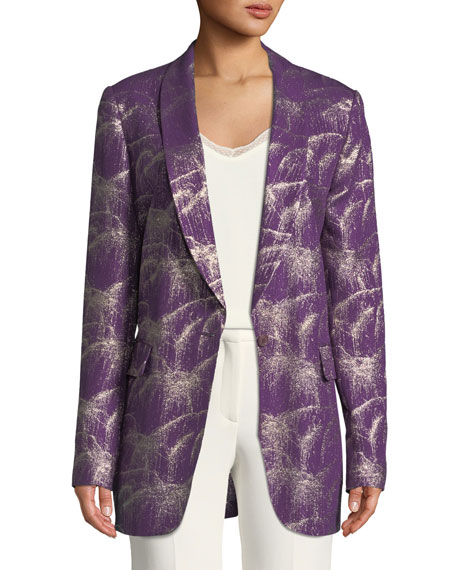Single-Breasted Starburst Lurex® Jacket