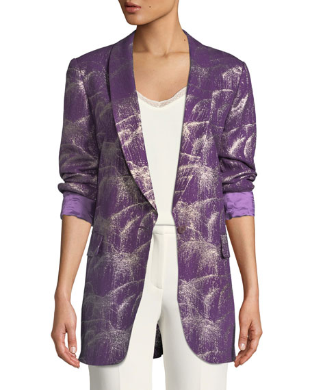 Single-Breasted Starburst Lurex® Jacket