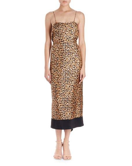 Dica Leopard-Print Midi Cami Dress